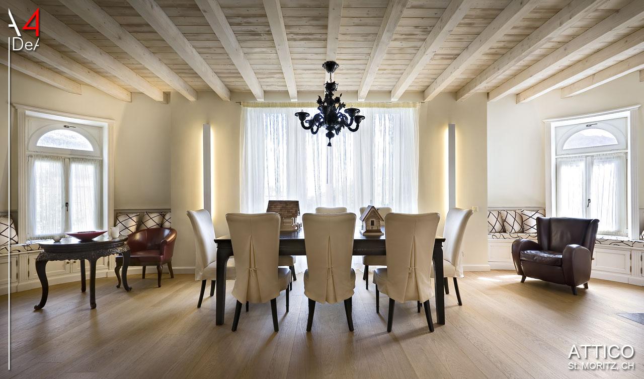 A idea architettura e interior design attico sankt moritz
