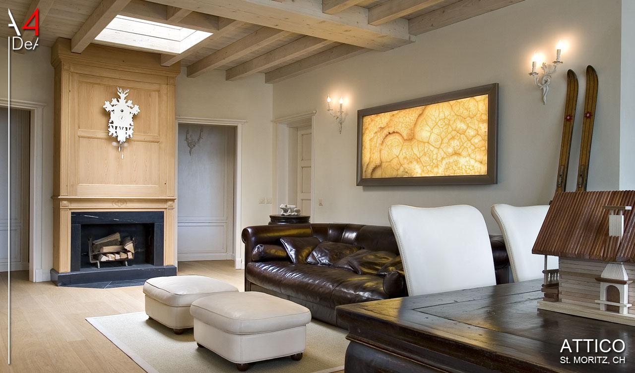 A idea architettura e interior design attico sankt moritz ch