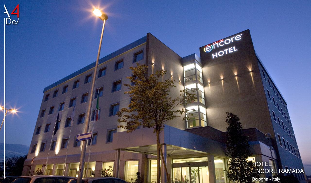 A4idea architettura e interior design hotel encore ramada for Hotel design bologna